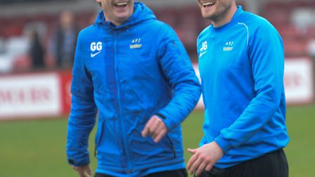 James Gray and Graham Golds were happy with a point at Hemel Hempstead on Saturday. Picture: Bob Wal