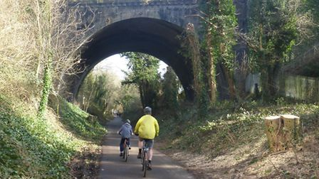 Vegetation has been cleared around the bridge in Alban Way. Photo courtesy of Peter Wares
