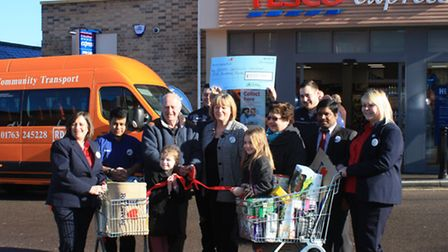 The tesco express opened on Tuesday by Clive Porter