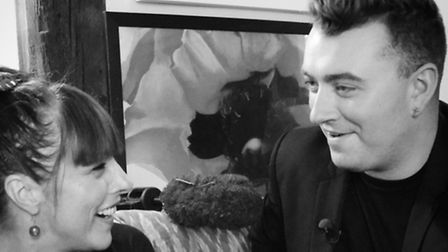 Joanna with man of the moment Sam Smith
