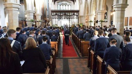 A packed church service at Melbourn Parish Church after the parade.