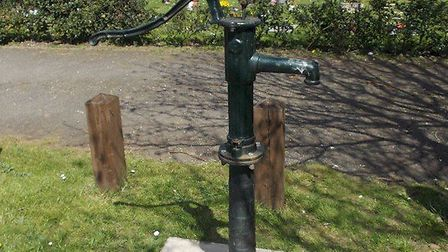 The water pump at Little Paxton cemetery.