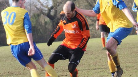 Ryan Smith scored two goals for Stonewood against St Albans IFC.