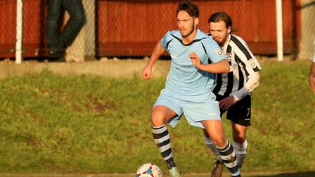 Sam Corcoran in action against Maidenhead United. Picture: Leigh Page