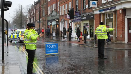 Police cordoned off St Peter's street due to the accident