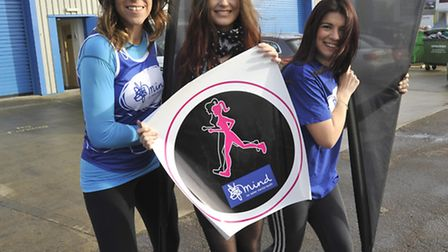 Borney Apprentice (centre) Harriet Hall, has designed a logo for a charity run, in aid of MIND, with