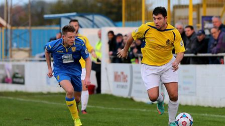John Frendo leading the charge towards the Basingstoke goal. Picture: Leigh Page