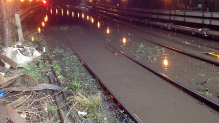 Flooding on the line between Farringdon and St Pancras has caused a quater of Thameslink services to
