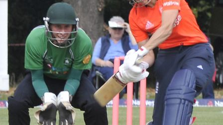 Charlotte Edwards in action last summer against Warboys.