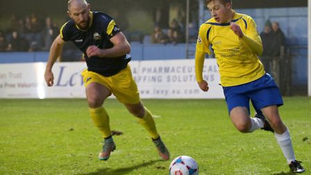 Jack Green in action against Gosport Borough. Picture: Leigh Page