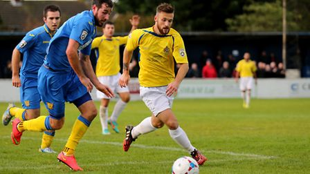 Charlie Smith in action against Basingstoke Town. Picture: Leigh Page