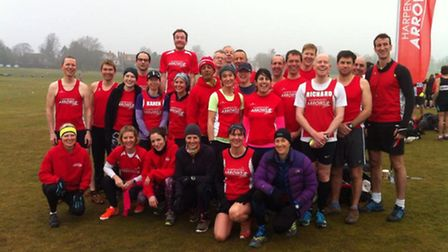 Harpenden Arrows at the Cross Country series in Royston