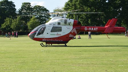 Herts Air Ambulance attended the incident in Salisbury Road in Batford