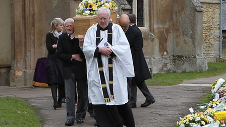 Edward Mallen's coffin is carried from the church