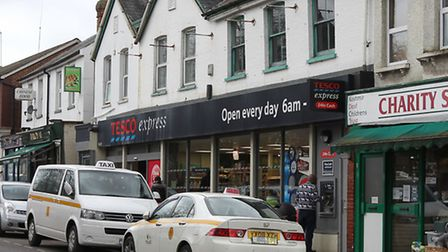 The Tesco express on Hatfield Road