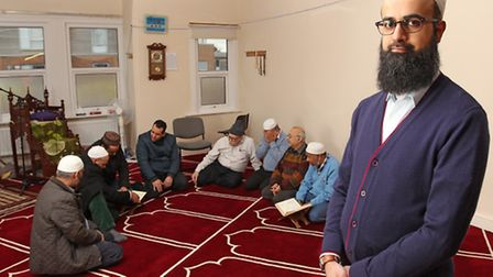 Assistant secretary at the St Albans Islamic centre Numan Khalid is welcoming non-muslims to an open