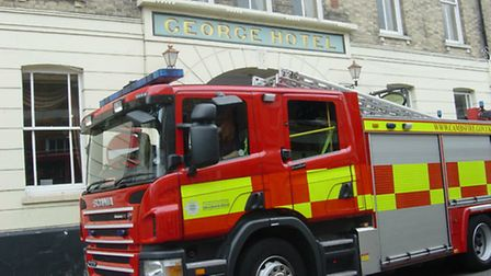 Firefighters were called to the incident on Sunday night.
