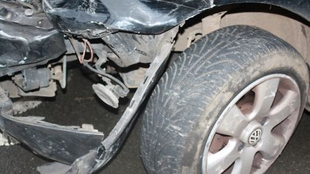 Jeanne's car suffered some serious damage
