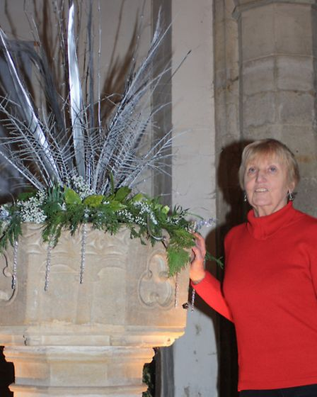 Diane Blundell, with her work titled Past 3 O'Clock . Picture: Clive Porter.