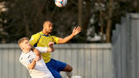 Howard Hall in action against Weston-super-Mare. Picture: Leigh Page