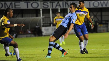 Steve Wales scored twice against Staines Town. Picture: Bob Walkley