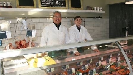 Ken Baaye and Jamie Holden from Lewis of Radlett butchers