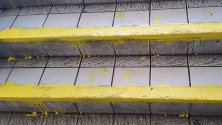 Users of the car park were disgusted with the paint job