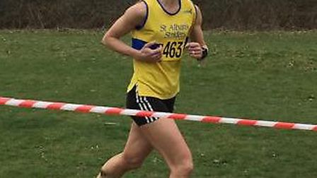 Wendy Walsh wins the Herts Country veteran cross-country championships