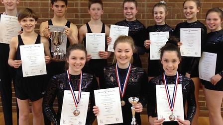Roundwood Park's national trampolining squad