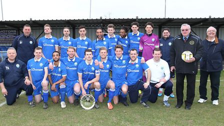 London Colney FC were presented with team of the month award for January 2015