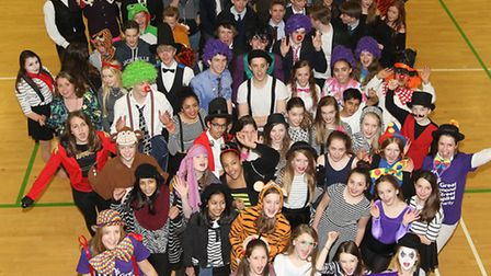 Children at Roundwood Park dress up in fancy dress to raise money for Great Ormond street hospital a