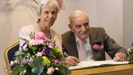 Di and Geoff Coles on their wedding day.