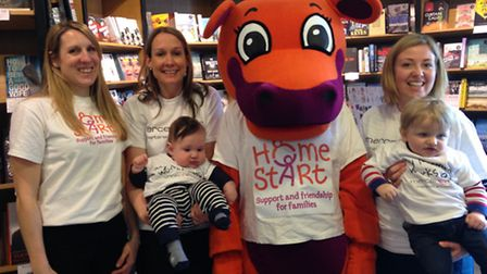 Suzy Moody from Home-Start with Mercer & Hole's Maria Bailey and Helen Price