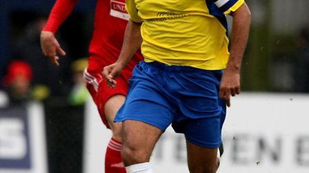 James Comley in action against Hemel Hempstead Town . Picture: Leigh Page