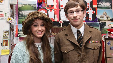 Beaumont School year 13 student Natalie Dobson and year 11 student Christopher Richards travelled to