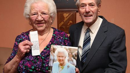 Mary and Kenneth Neal celebrate their 60th wedding anniversary with a card from the Queen and the or