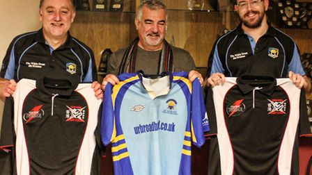 The chairman and secretary of the newly-founded Hong Kong Rugby League visited St Albans Centurions.