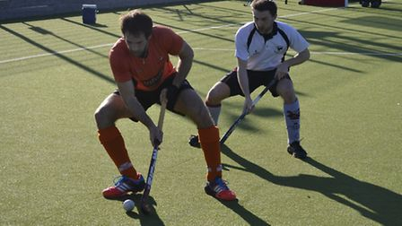 Action from St Albans Hockey Club's men's 1sts rout of Dereham.