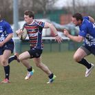 Mike Allan races clear of the defence to score OA's fourth