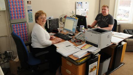 The Crescent, Russell Avenue, St Albans. Head of operations Ian Murtagh with administrator Fran Mur