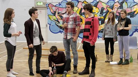 Youngsters from SIYT rehearsing for a play which could result in an appearance on a London stage. Pi