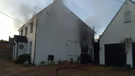 House fire in Alconbury. Picture: Cambs Fire