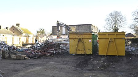 The Territorial pub has been knocked down.