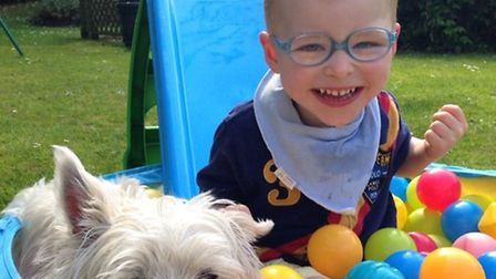 'Smiley' Jonty requires lots of assistive equipment and special therapy