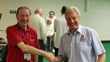 Tony Allcock MBE, CEO of England Bowls and former World Champion, visiting the Bowls Activators cour