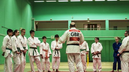 Young participants at the First Steps into Judo course, held at the Hertfordshire Sports Village