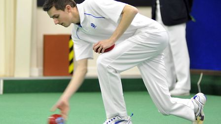 Huntingdonshire Bowling Federation 2015 County Indoor Finals, Warboys Ed Elmore, Mens Pairs,