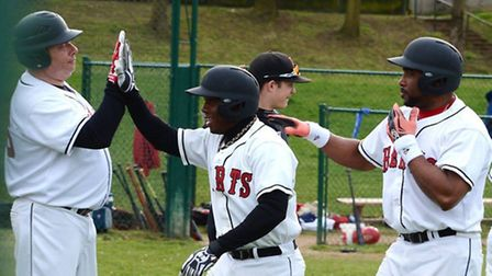 Maikel Azcuy hit another home-run, his third of the season, on Sunday. Picture: Paul Holdrick