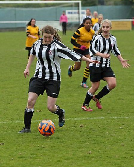 Faith Trounce scored for Colney Heath Ladies. Picture: Jim Whittamore
