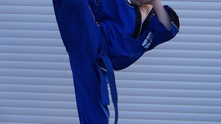 Ashton Brannigan (9) of the BCKA martial arts club which trains in Ramsey has been named in the Engl